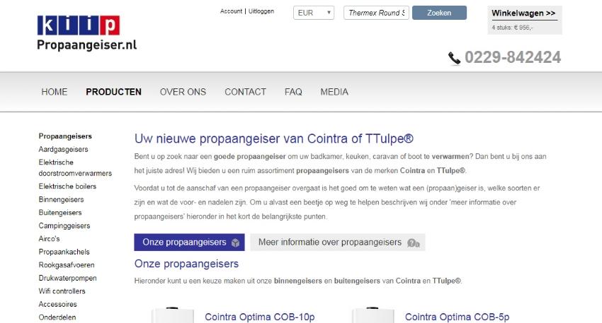 Webshop concept voor KIIP