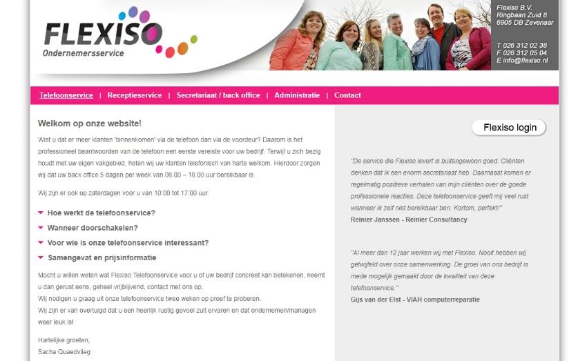 Ontwikkeling berichtenplatform Flexiso