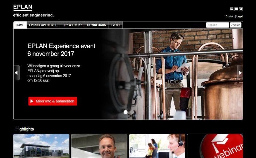Nieuwe themawebsite voor EPLAN: EPLAN Experience