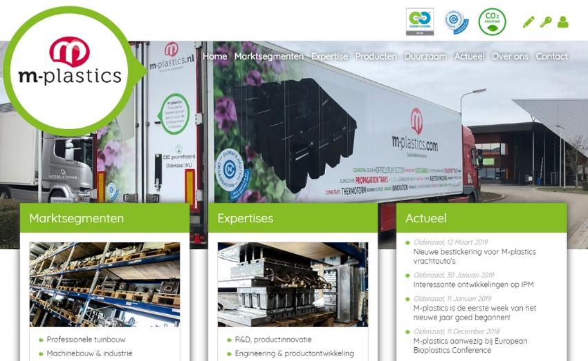 Nieuwe website voor M-plastics