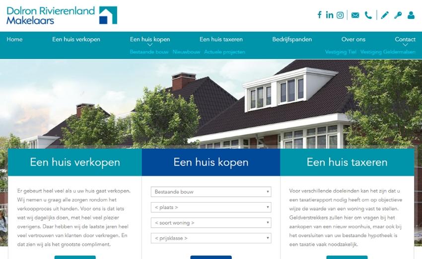 Nieuwe website voor Dolron Rivierenland Makelaars