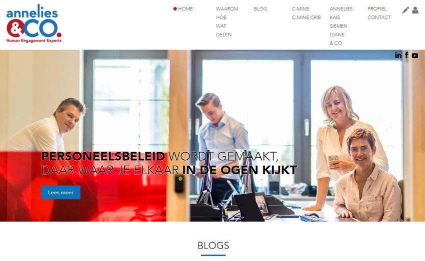 Nieuwe website voor Annelies & Co