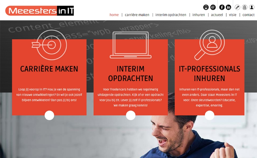 Nieuwe website voor de Meeesters in IT