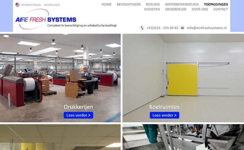 Nieuwe website voor Aire Fresh Systems