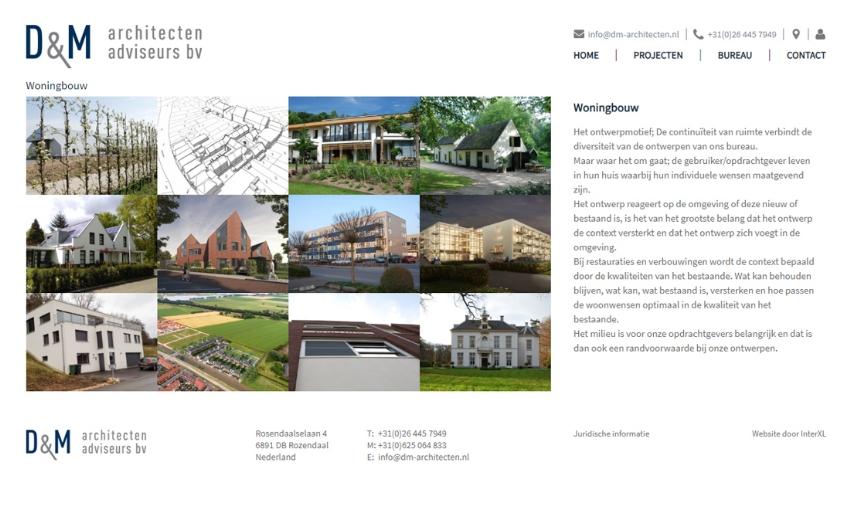 Nieuwe website voor D&M Architecten Adviseurs