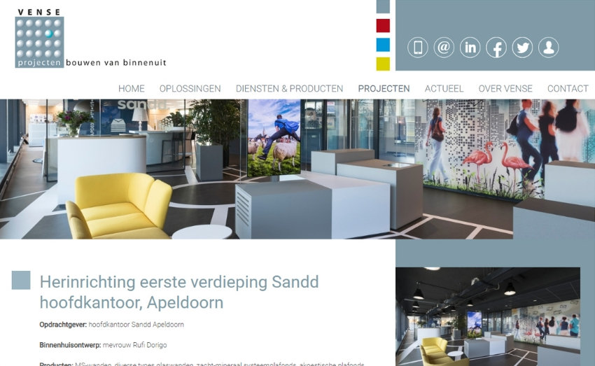 Website en social media voor Vense Projecten