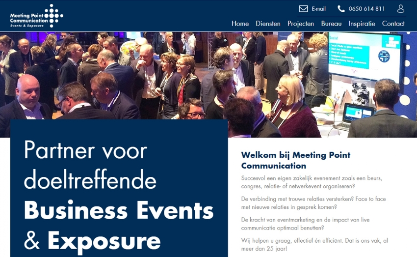 Nieuwe website voor Meeting Point Communication