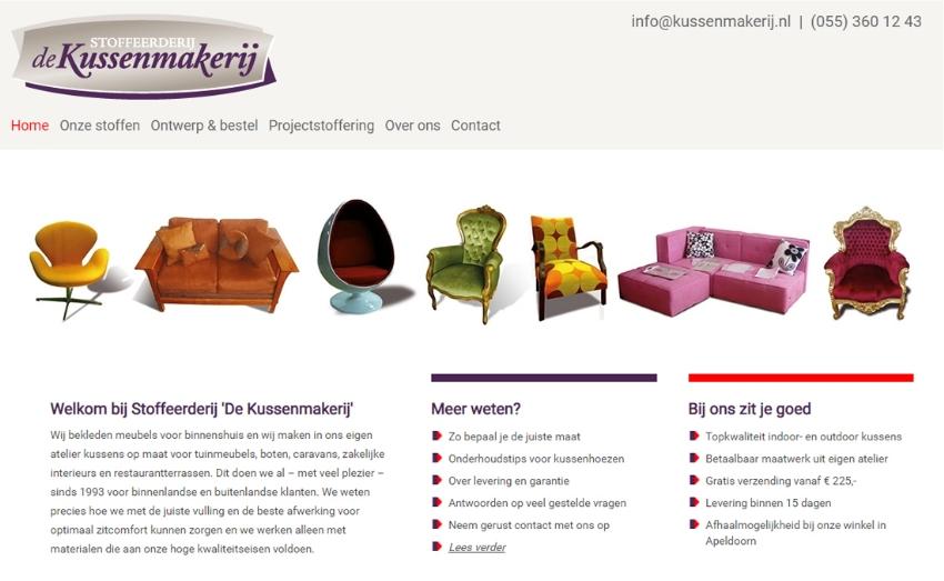 Webshop met kussen-configurator en SEO voor Kussenmakerij.nl