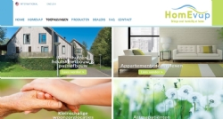 Internationale website voor HomEvap - InterXL Internet Services