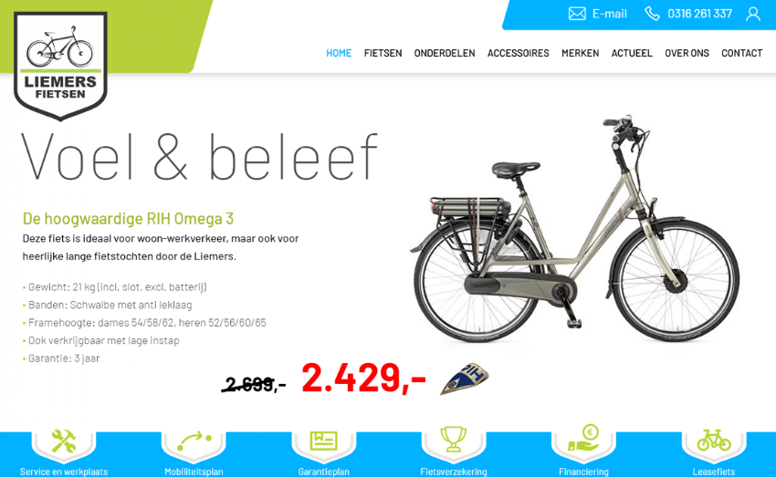 Nieuwe website voor Liemers Fietsen uit Duiven