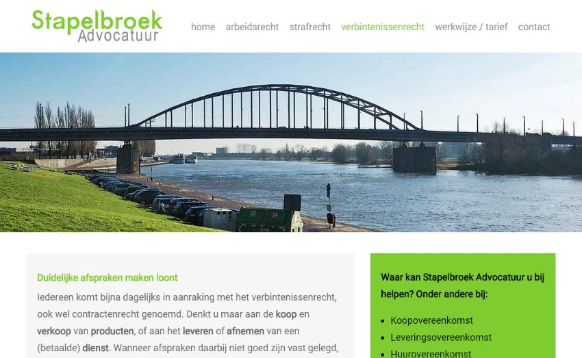 Logo, huisstijl en website voor Stapelbroek Advocatuur