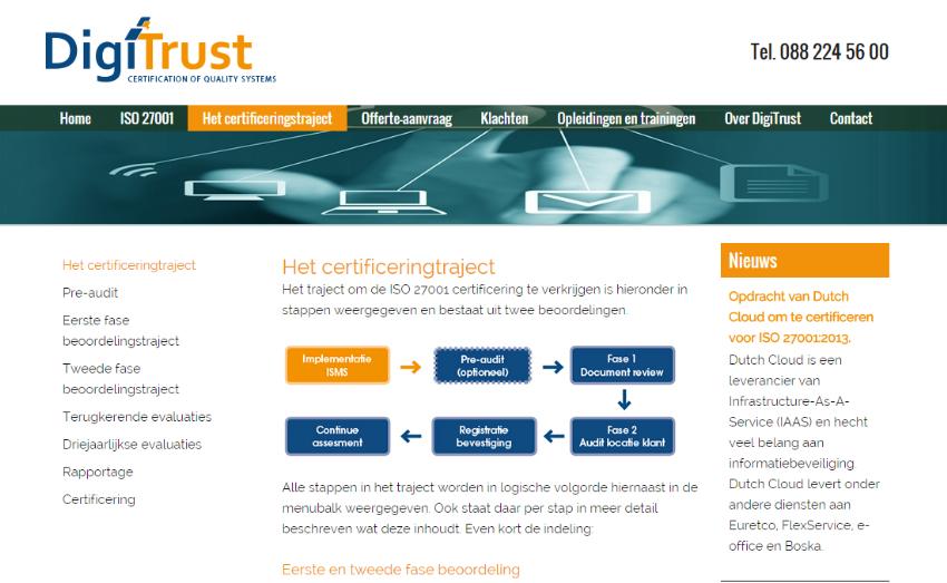 Nieuwe website voor DigiTrust