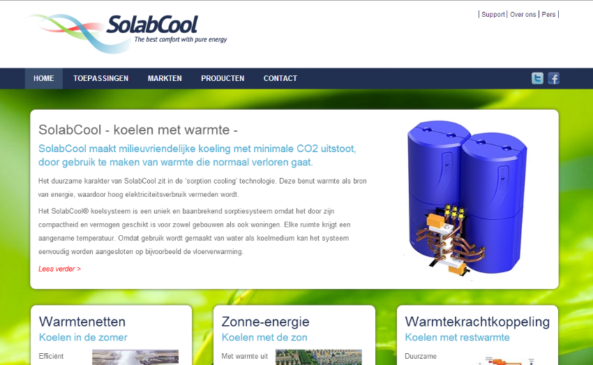 Responsive website met CMS voor SolabCool