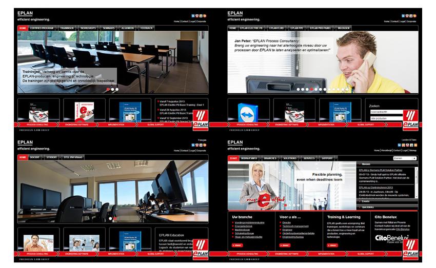 Diverse websites en onderhoud voor EPLAN Software & Services