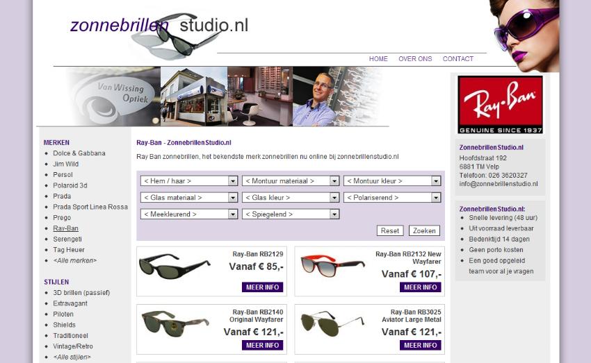 Nieuwe webshop met social media integratie ZonnebrillenStudio.nl