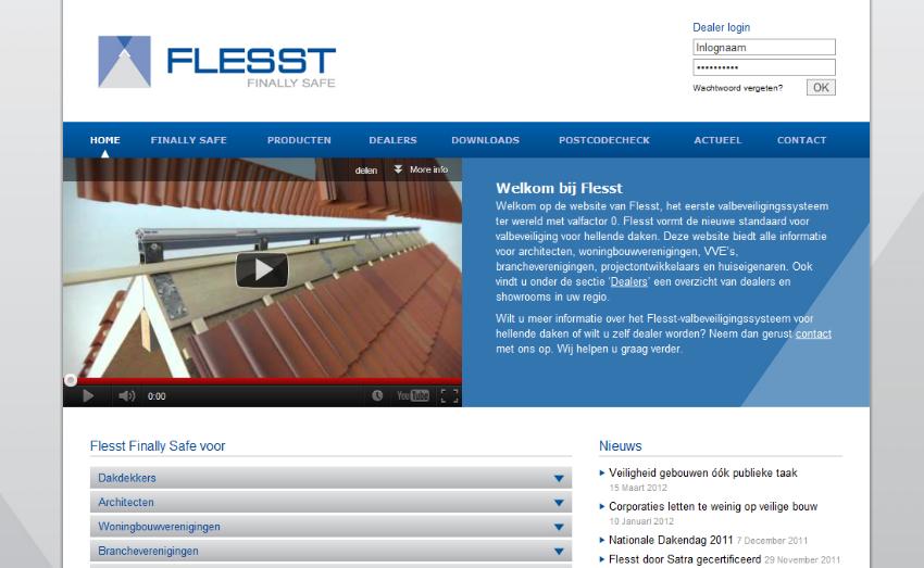Website met configuratie- en bestelplatform voor Flesst