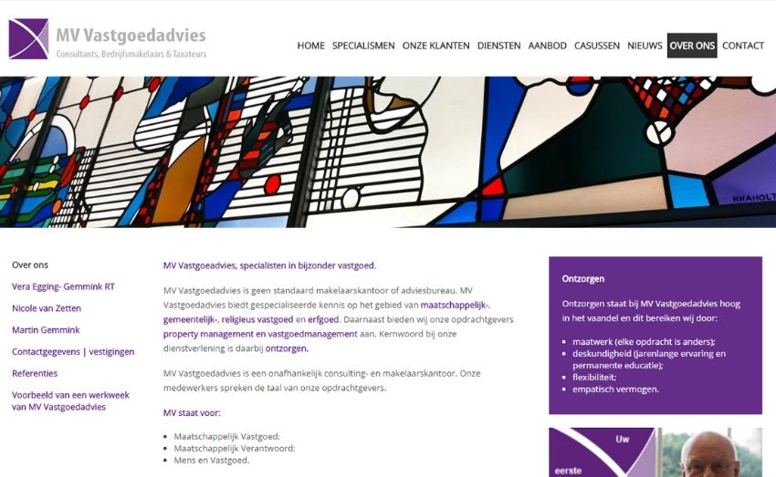 Mobiel-vriendelijke website voor MV Vastgoedadvies