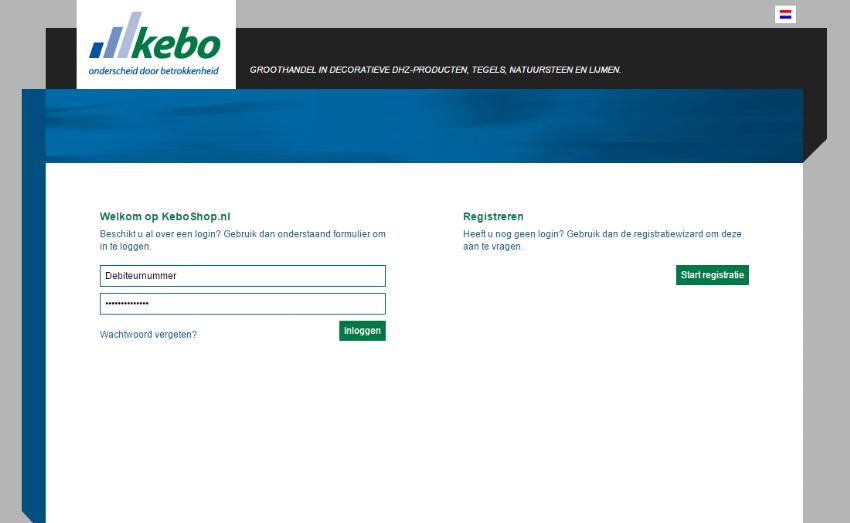 Klantportaal en order-intake systeem voor Kebo