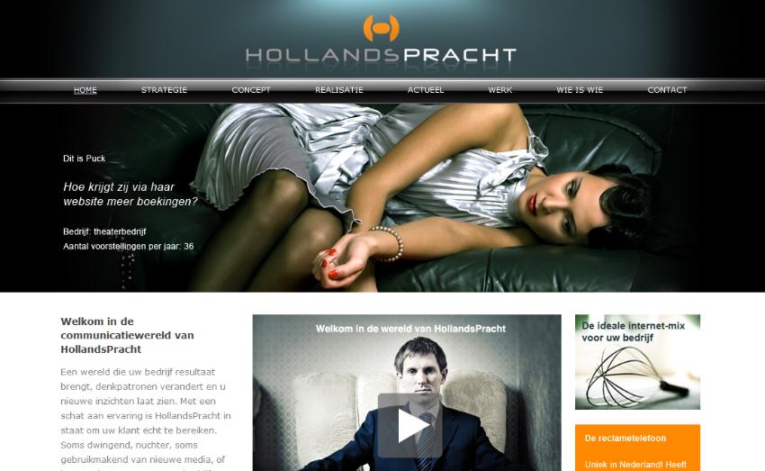 Technische realisatie website Reclamebureau HollandsPracht