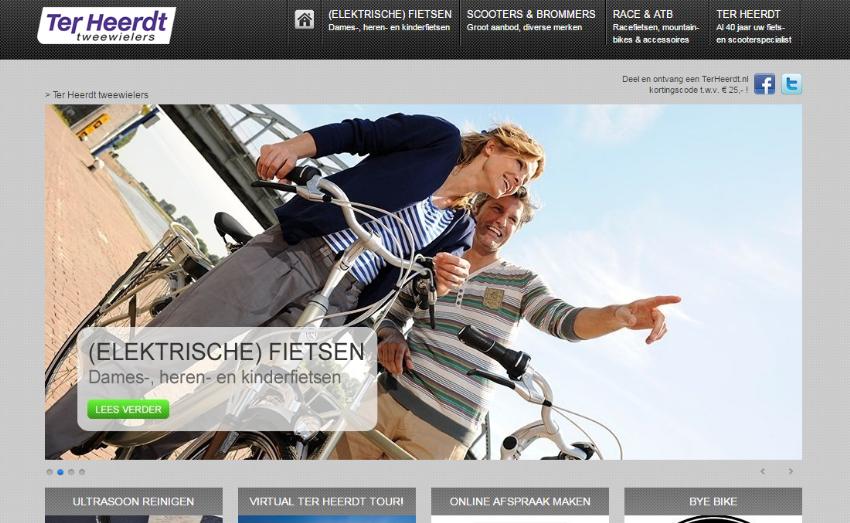 Website met webshop voor Ter Heerdt Tweewielers
