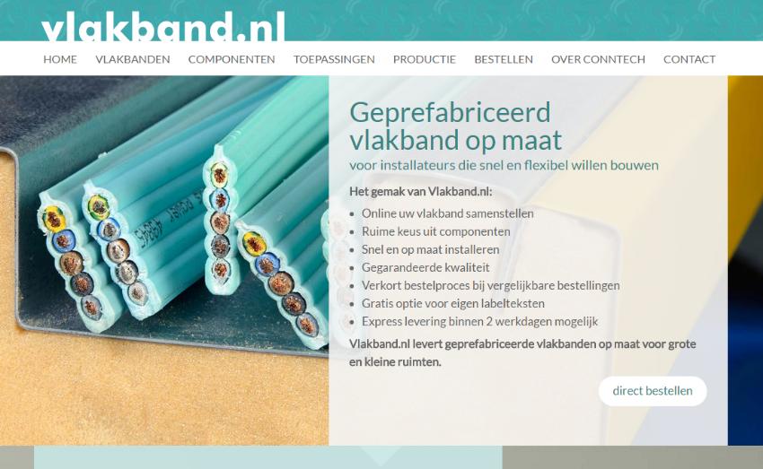 Vlakband.nl en bestelportal voor Conntech