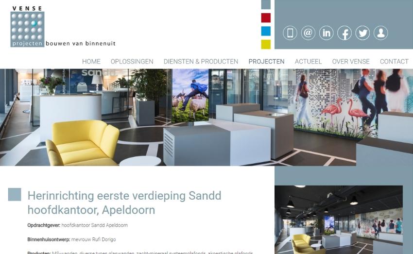 Website en social media voor Vense Projecten