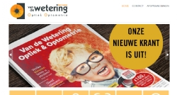 Website voor Van de Wetering Optiek & Optometrie - InterXL Internet Services